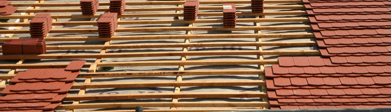 Biberschwanz auf Dachlattung